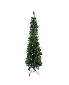 Pre-Lit Northern Balsam Fir Pencil Artificial Christmas Tree
