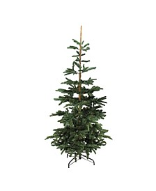 Unlit Slim Laye Noble Fir Artificial Christmas Tree