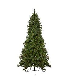 Pre-Lit Slim Canyon Pine Half Wall Artificial Christmas Tree
