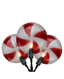 Peppermint Candy Shaped Christmas Light Set
