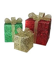 Lighted Glistering Gi Box Christmas Outdoor Decor
