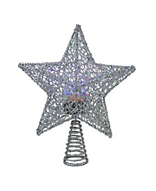 Lighted Star with Rotating Projector Christmas Tree Topper