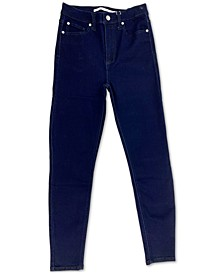 Juniors' Cotton Curvy High-Rise Skinny Jeans