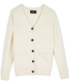 Classic Button-Front Cardigan Sweater