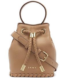 DKNY Leather Winnie Small Bucket