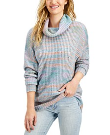 Juniors' Cowl-Neck Tunic Sweater