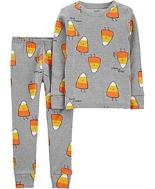 Toddler Boy & Girl 2-Piece Halloween Candy Corn Snug Fit Cotton PJs