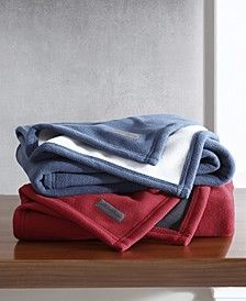 """CLOSEOUT! Solid Reversible Throw, 60"""" L x 50"""" W"""
