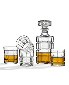 Radius Whiskey Decanter and 4 Double Old Fashion Glasses
