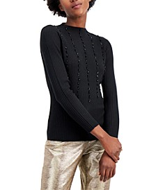 Beaded Ribbed Sweater, Created for Macy's