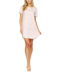 Floral by Flora Nikrooz Natalia Snakeskin-Print Sleep Shirt Nightgown