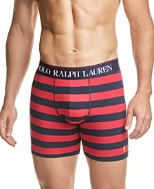 Men's Striped Stretch Jersey Boxer Briefs