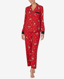 Women's Printed Soft-Knit Pajamas Set