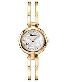 Women's Swiss Miniature Gold-Tone Stainless Steel Bracelet Watch 26mm