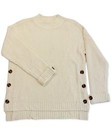 Trendy Plus Size Button-Detail Sweater