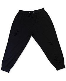 Trendy Plus Size Distressed Sweatpants