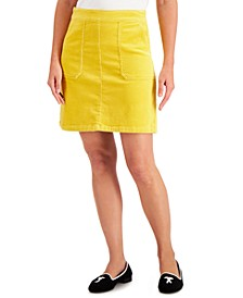 Corduroy A-Line Skirt, Created for Macy's