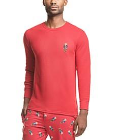 Men's Polo Bear Waffle-Knit Pajama Shirt