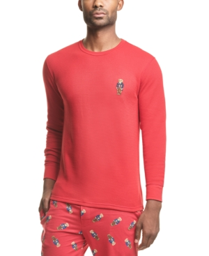 Polo Ralph Lauren Men's Varsity Bear Waffle-Knit Sleep Shirt