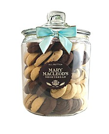 Cookie Gift Jar of Assorted Shortbread, 80 Count