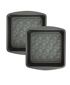 Set of 2 Non-Stick Metal Square Baking Pan