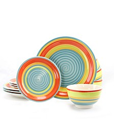 Home 12 Piece Stoneware Dinnerware Set