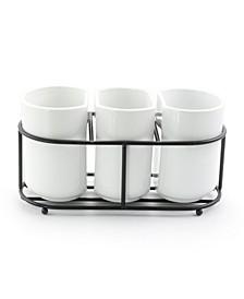 Fine Ceramic 3 Piece Utensil Holder