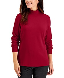 Plus Size Mock Neck Top, Created for Macy's