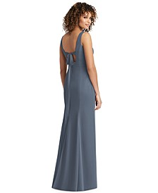 Bow-Back Chiffon Gown