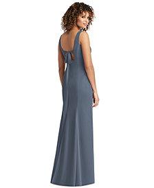 Social Bridesmaids Bow-Back Chiffon Gown