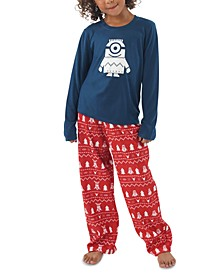 Matching Kids Holiday Minions Family Pajama Set