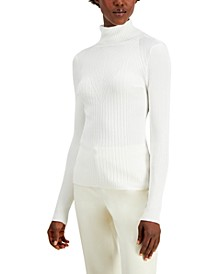 INC Ribbed Turtleneck Sweater, Created for Macy's