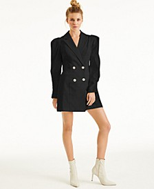 CULPOS X INC Crystal-Button Blazer Dress, Created for Macy's