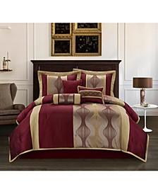 Larsa 7-Piece California King Comforter Set