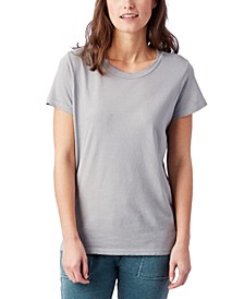 Distressed Vintage-Inspired Women's Tee