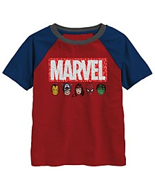 Little Boys Marvel Box Flip Sequin Graphic T-shirt