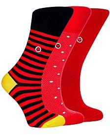 Women's Organic Cotton Seamless Toe Trouser Socks, 3 Pack