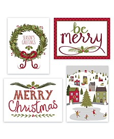 Merriest Assortment Holiday Boxed Cards, 16 Cards and 16 Envelopes