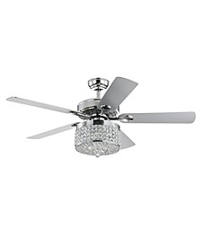 "Canohr 52"" 3-Light Indoor Remote Controlled Ceiling Fan with Light Kit"