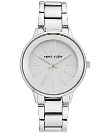 Women's Silver-Tone Bracelet Watch 37mm