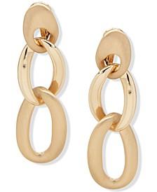Chain Link Clip-On Drop Earrings