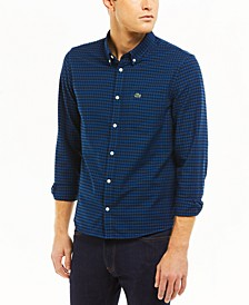 Men's Regular-Fit Checkered Oxford Cotton Shirt