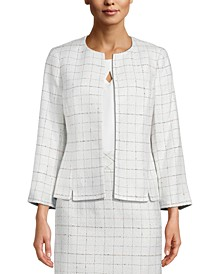 Tweed Collarless Blazer