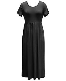 Petite Seamed-Waist Maxi Dress, Created for Macy's