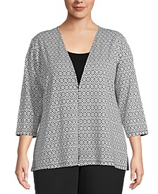 Plus Jacquard Cardigan
