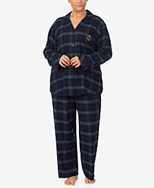 Plus Size Plaid Pajama Set