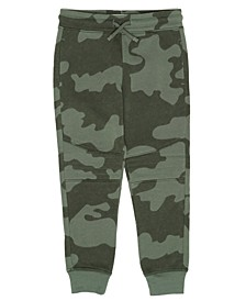 Toddler Boys Drawstring Camo Basic Knit Jogger