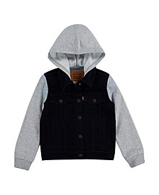 Toddler Boys Hooded Trucker Jacket