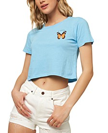 Juniors' Spirit Animal 2 Cotton Cropped T-Shirt