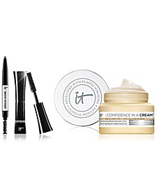 Limited Edition It Cosmetics Set. Travel-Size Superhero Mascara, Trial-Size Confidence in a Cream and Trial-Size Brow Power. Only $13 with any beauty purchase! A $27 Value